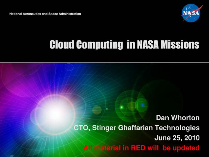 Cloud computing in nasa missions