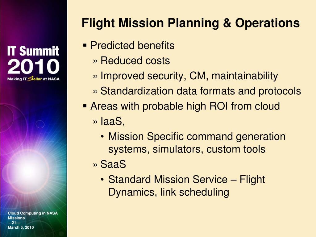 Flight Mission Planning & Operations