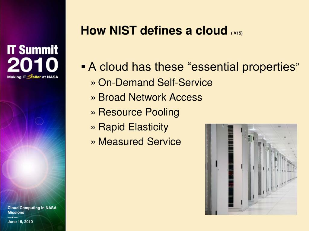 How NIST defines a cloud