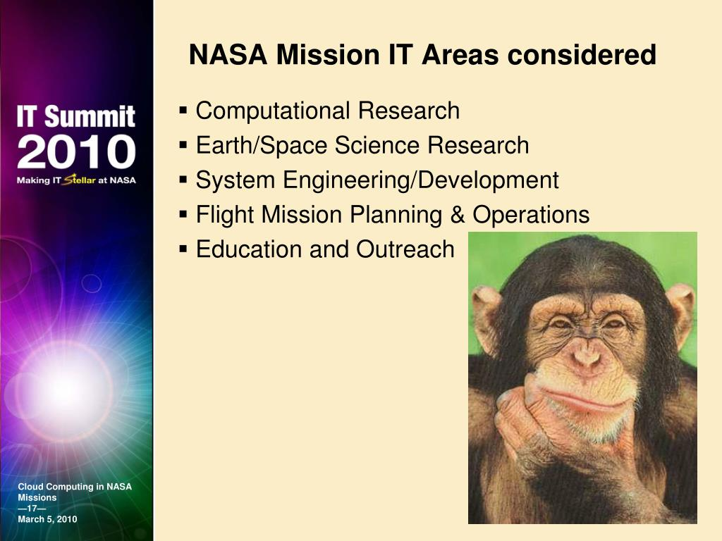 NASA Mission IT Areas considered