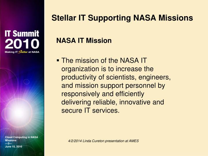 Stellar it supporting nasa missions