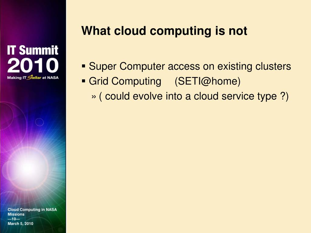 What cloud computing is not