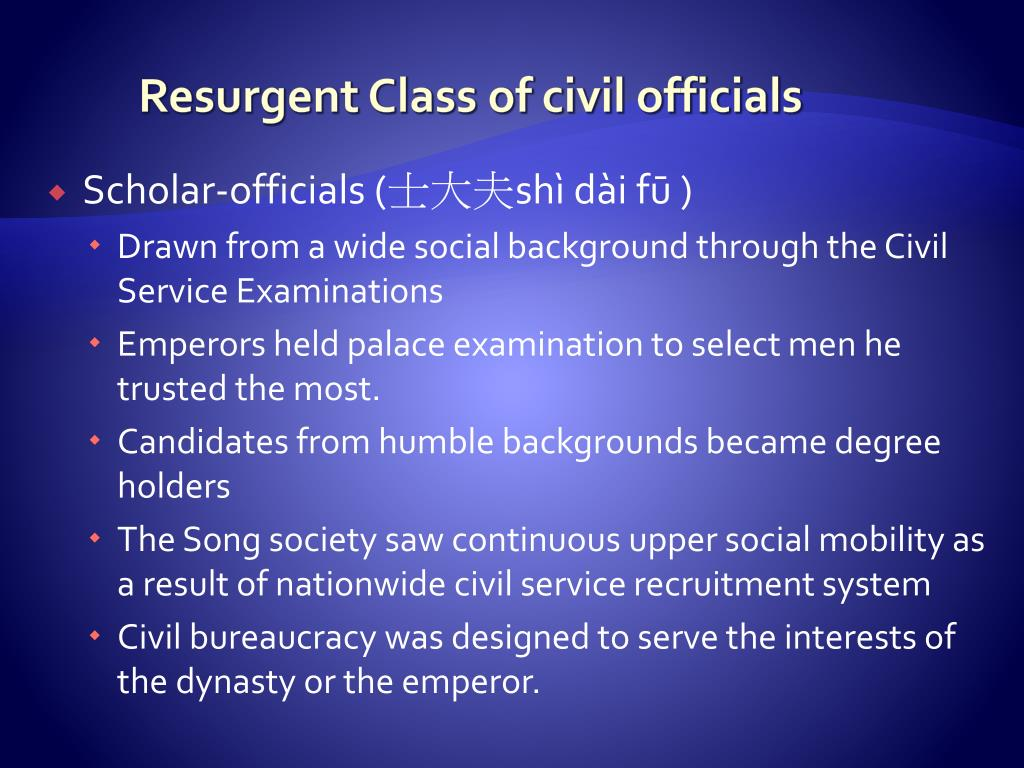 Resurgent Class of civil officials