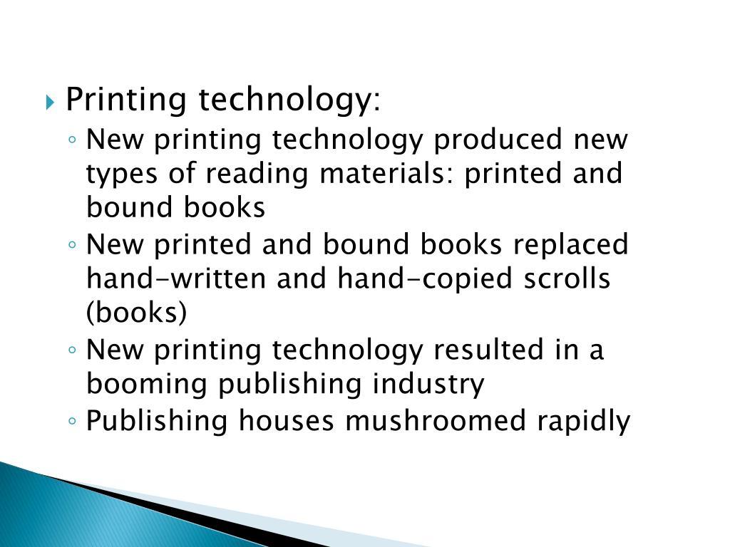 Printing technology: