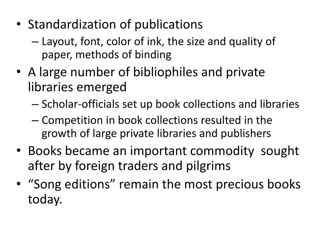 Standardization of publications
