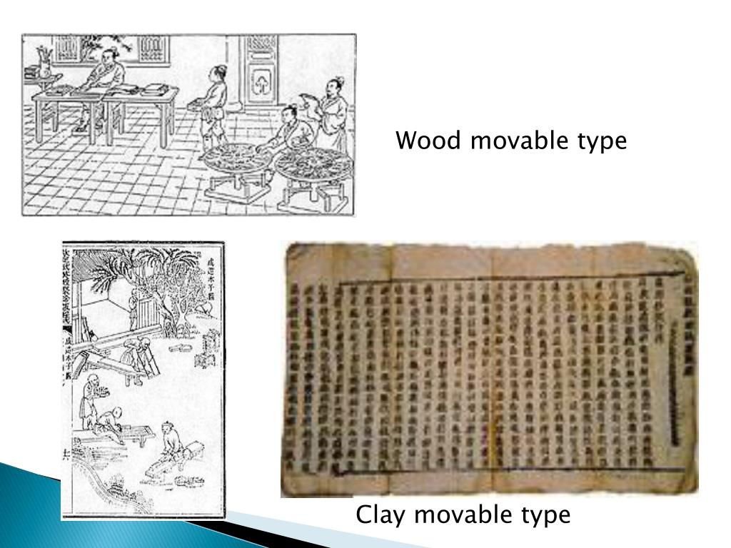 Wood movable type