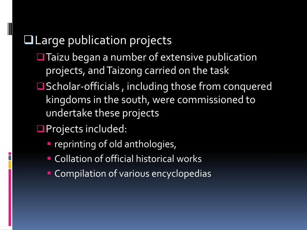 Large publication projects