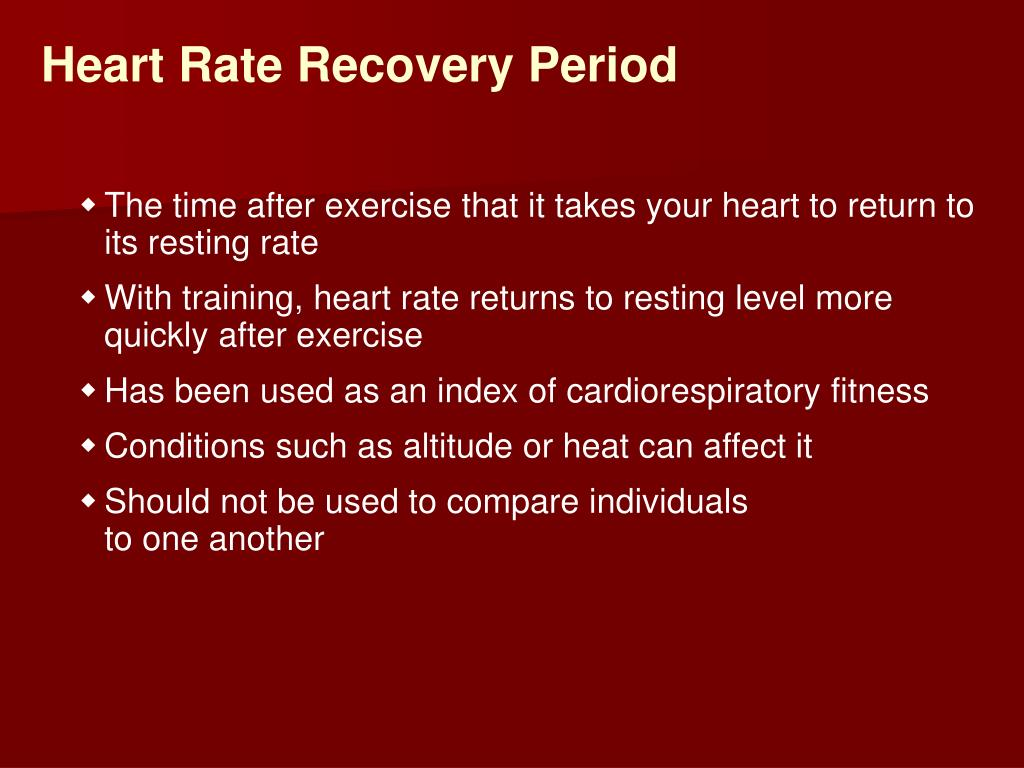 Heart Rate Recovery Period