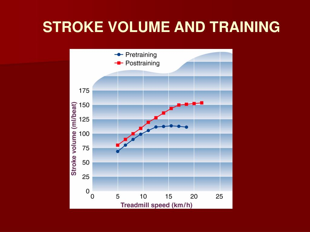 STROKE VOLUME AND TRAINING