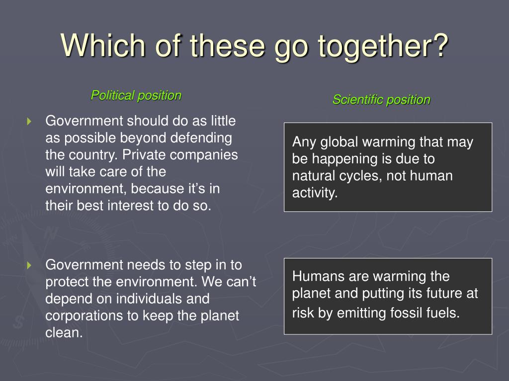 Any global warming that may be happening is due to natural cycles, not human activity.