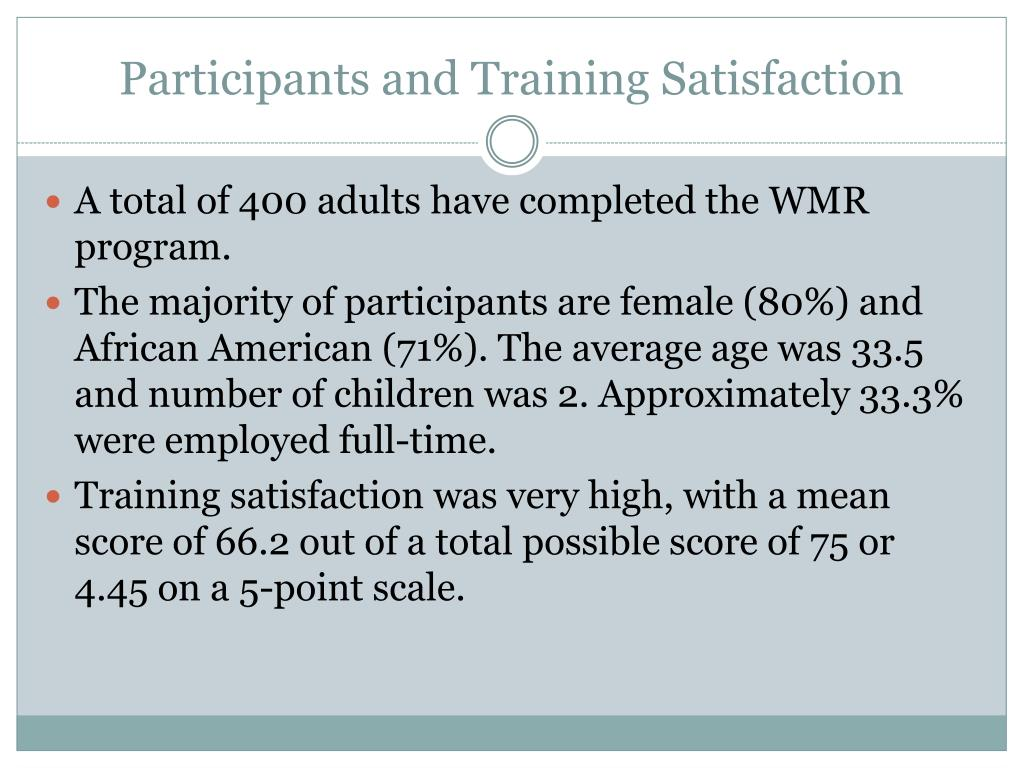 Participants and Training Satisfaction
