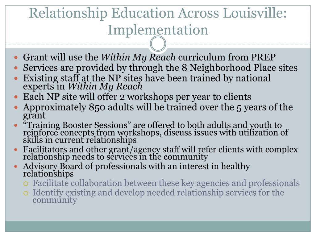 Relationship Education Across Louisville: Implementation