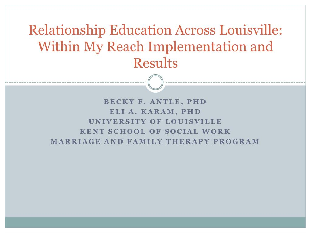 Relationship Education Across Louisville: