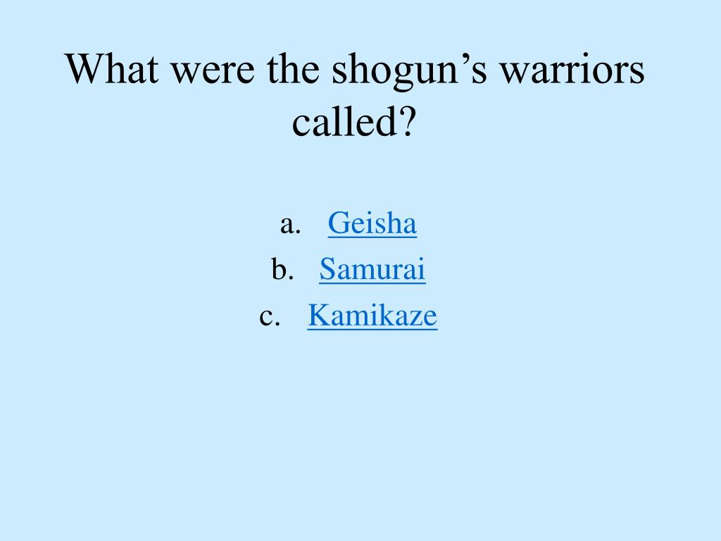 What were the shogun's warriors called?