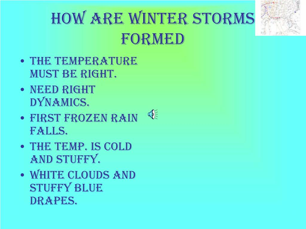 How are winter storms formed