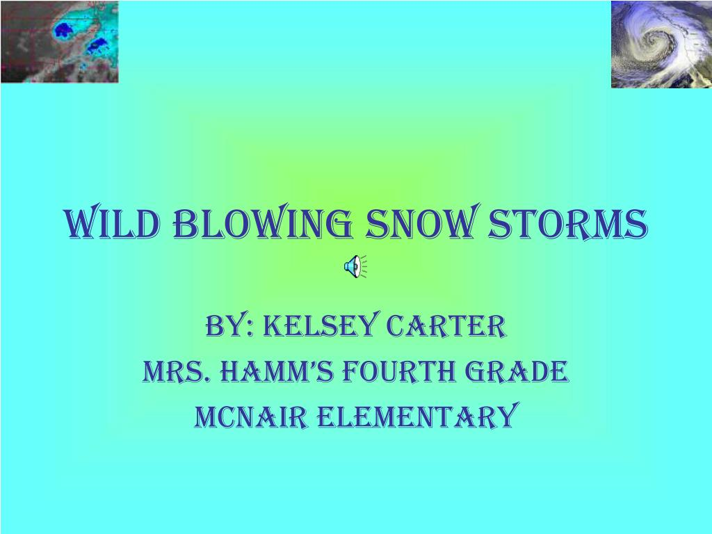 Wild blowing snow storms