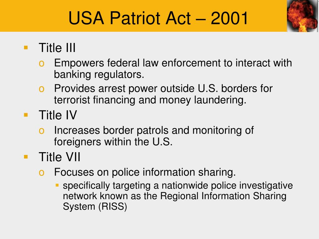 the u s a patriot act essay