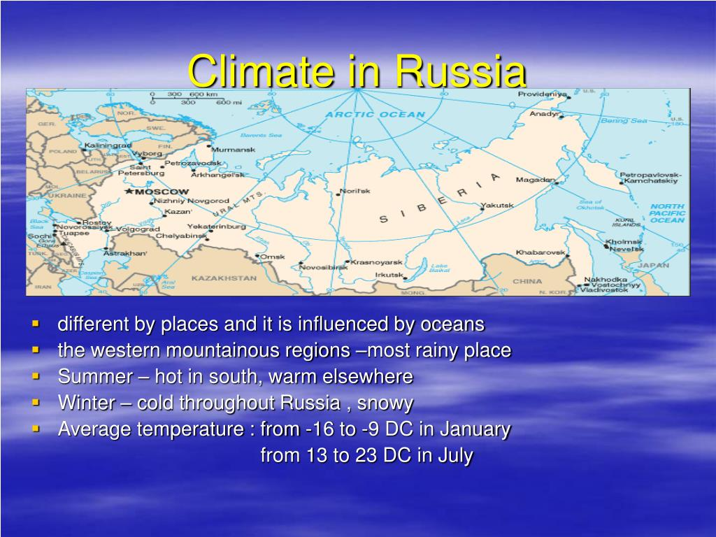 Climate in Russia