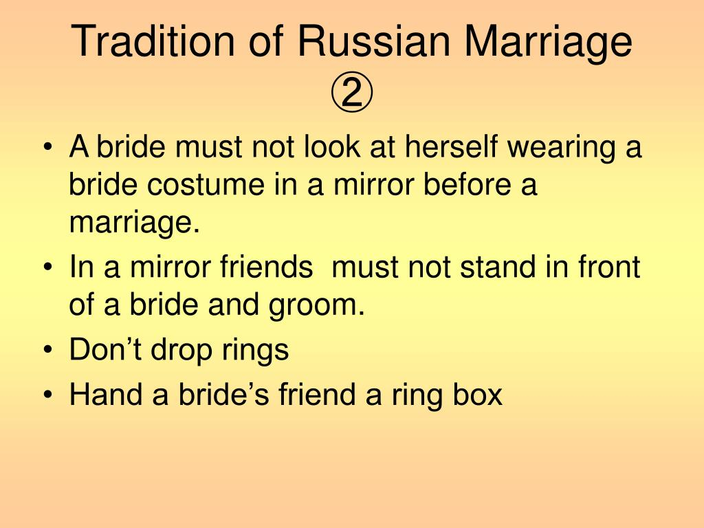 Tradition of Russian Marriage