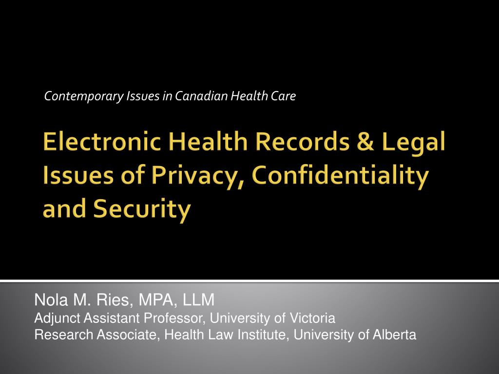 privacy and security implications of electronic health records Electronic health record (ehr) systems can improve communication and coordination of clinical care, resulting in better health-care outcomes current regulations focus on documentation.