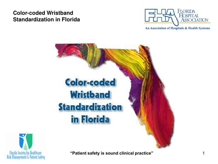 Color coded wristband standardization in florida