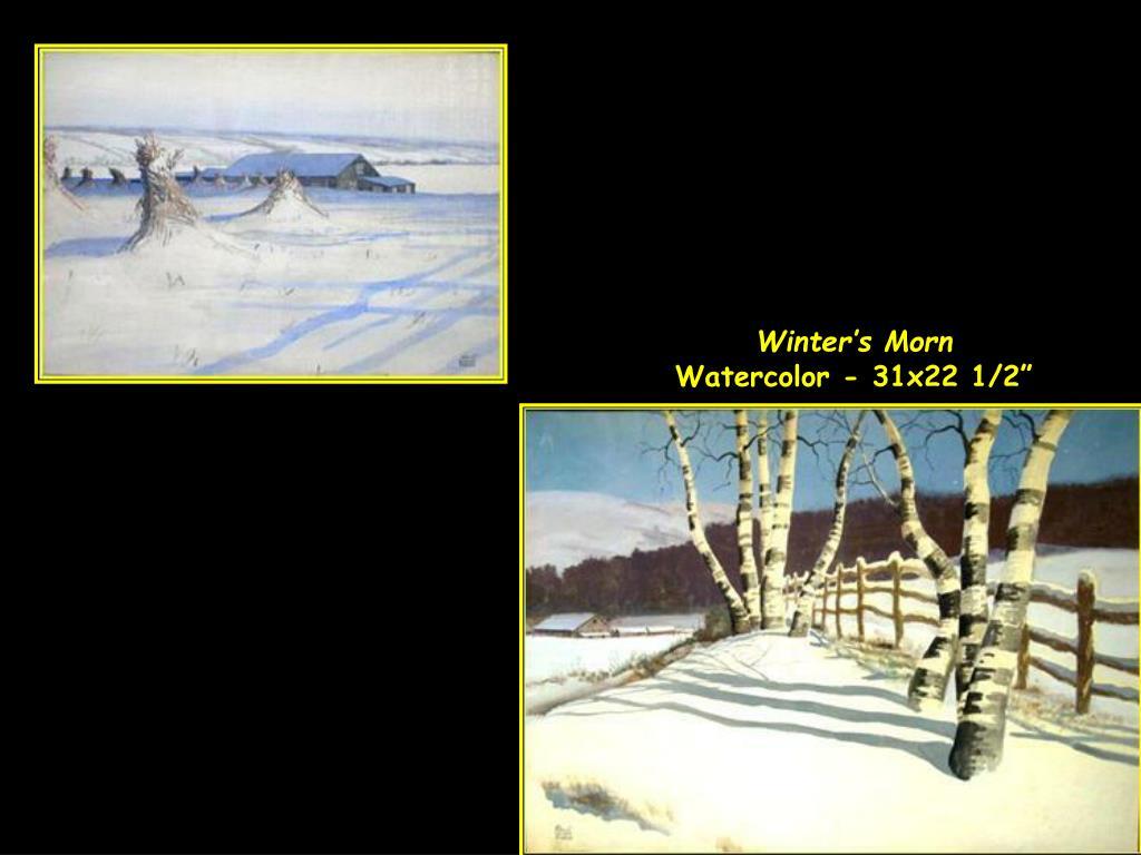 Winter's Morn