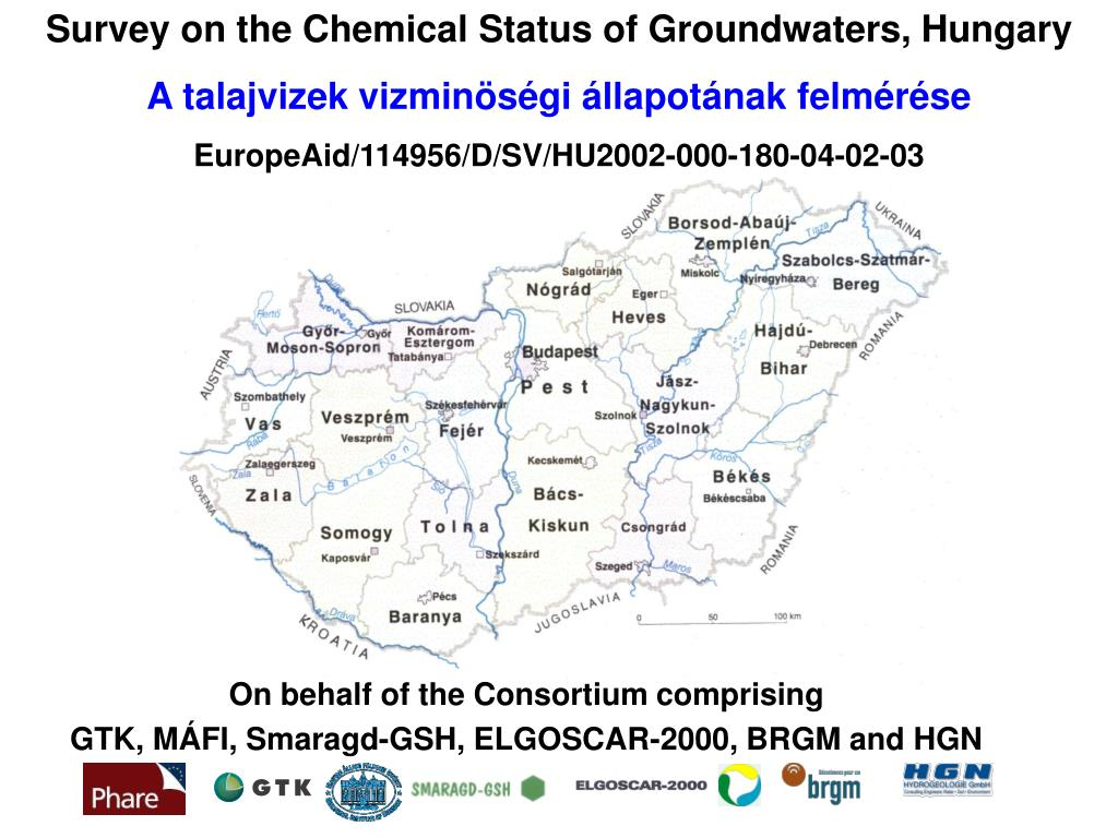 Survey on the Chemical Status of Groundwaters, Hungary