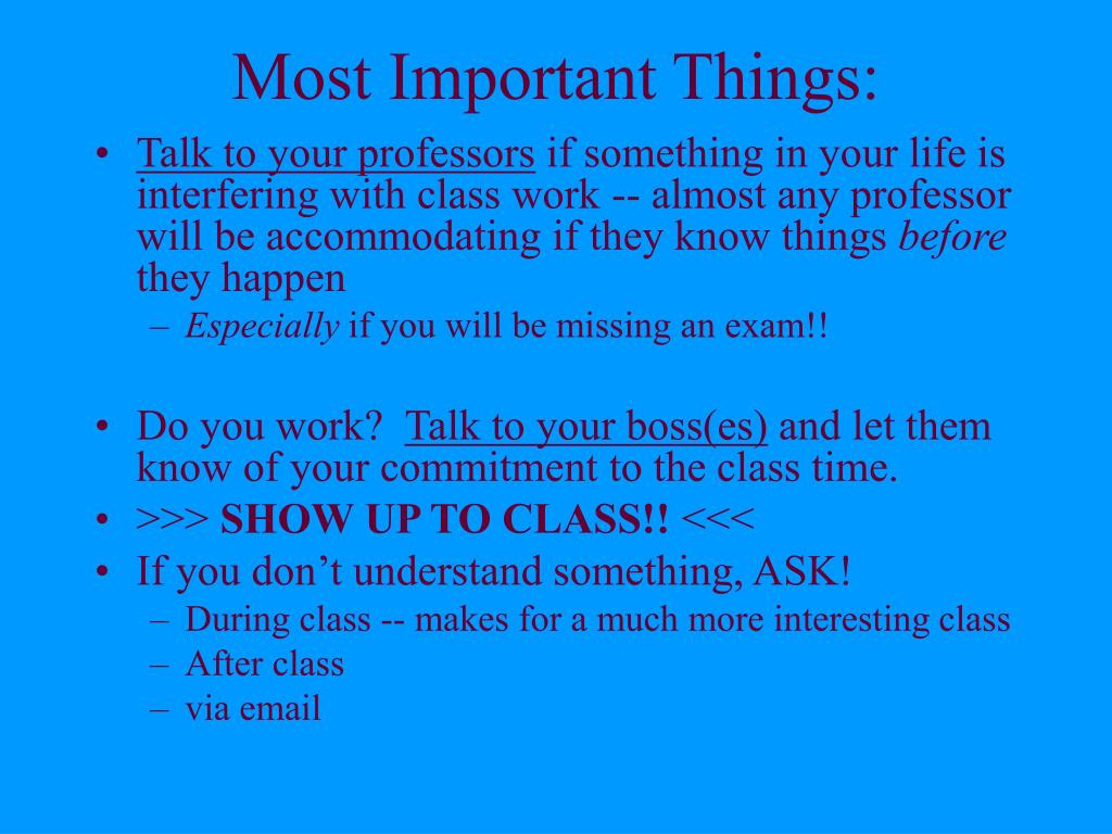Most Important Things: