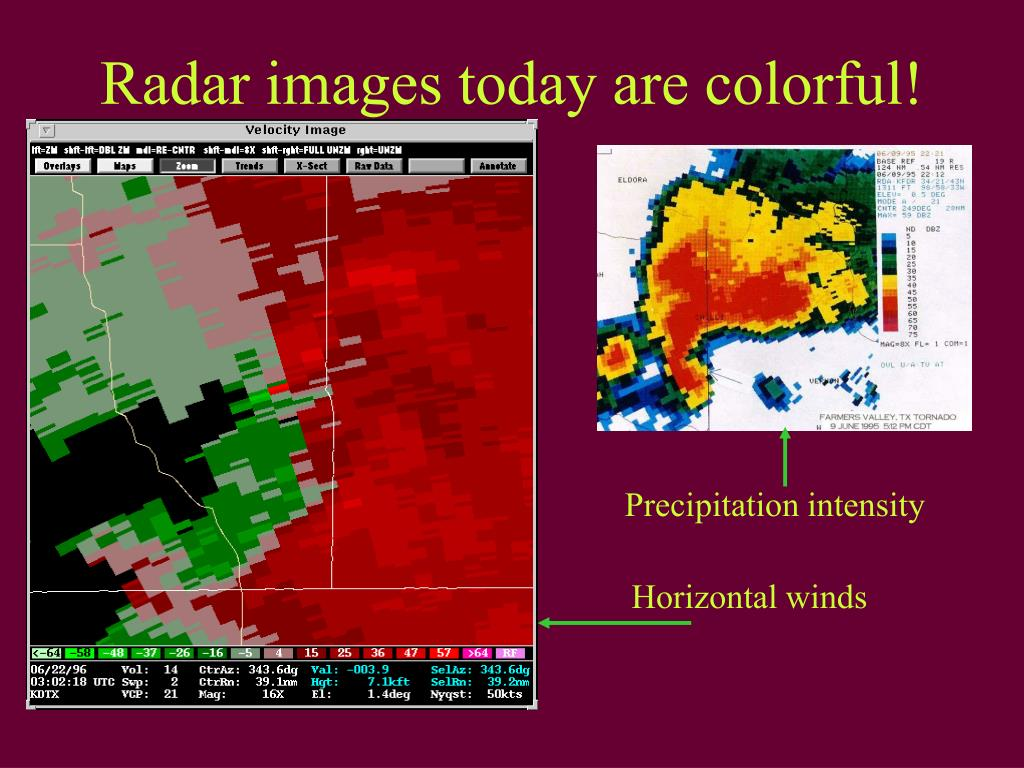 Radar images today are colorful!