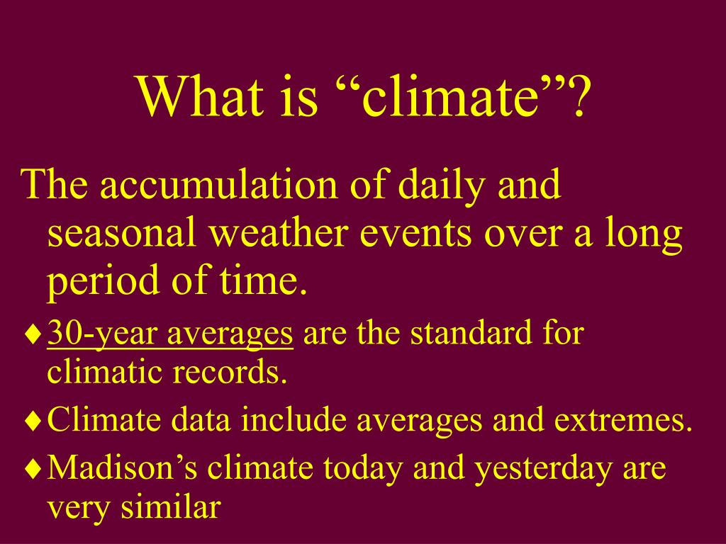 """What is """"climate""""?"""