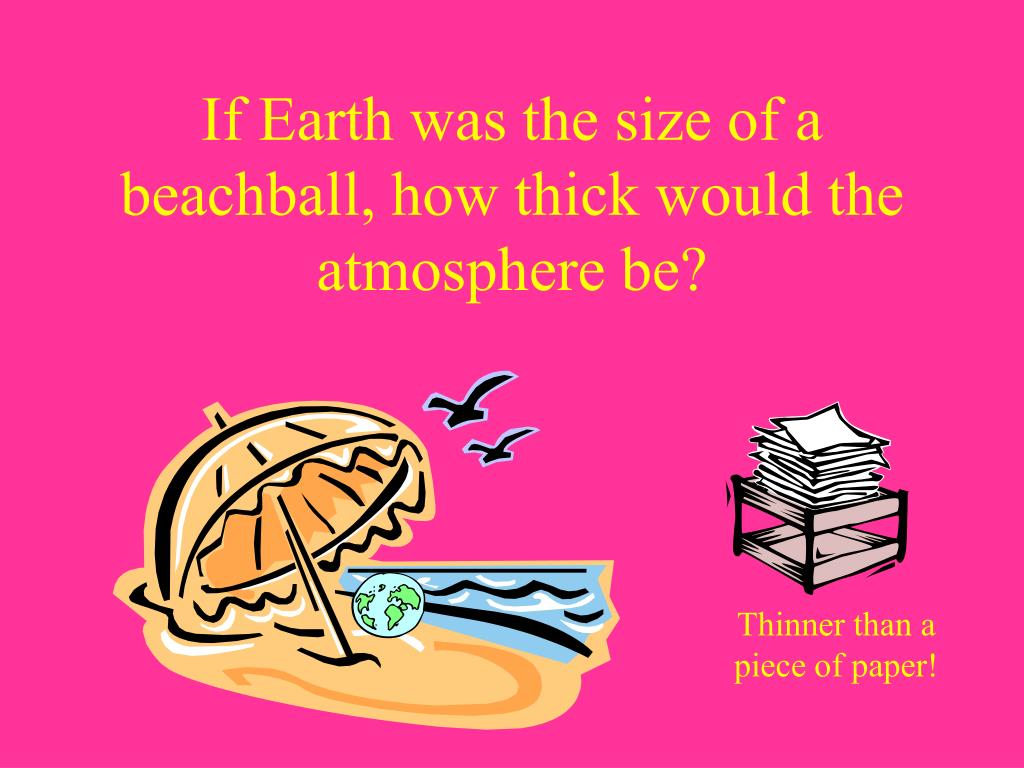 If Earth was the size of a beachball, how thick would the atmosphere be?