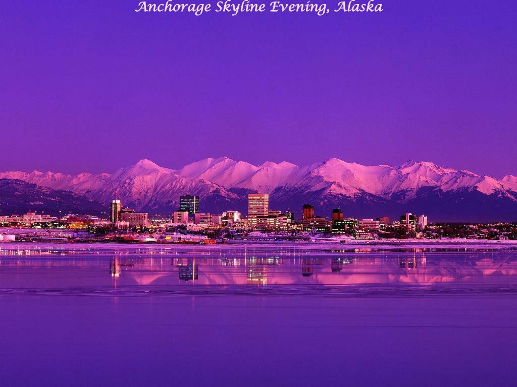 Anchorage Skyline Evening, Alaska