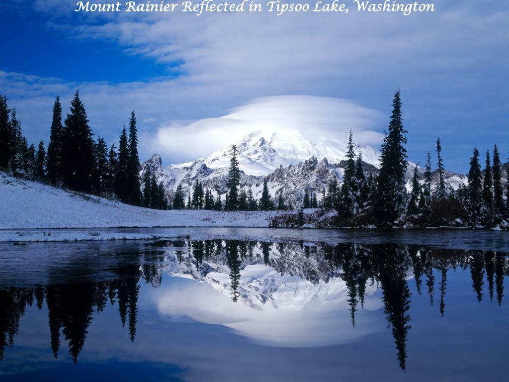 Mount Rainier Reflected in Tipsoo Lake, Washington