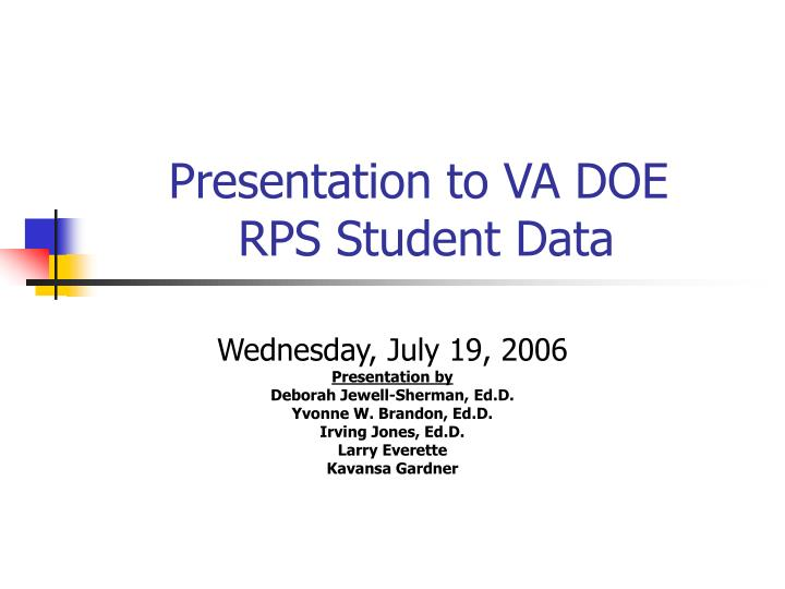 Presentation to va doe rps student data l.jpg