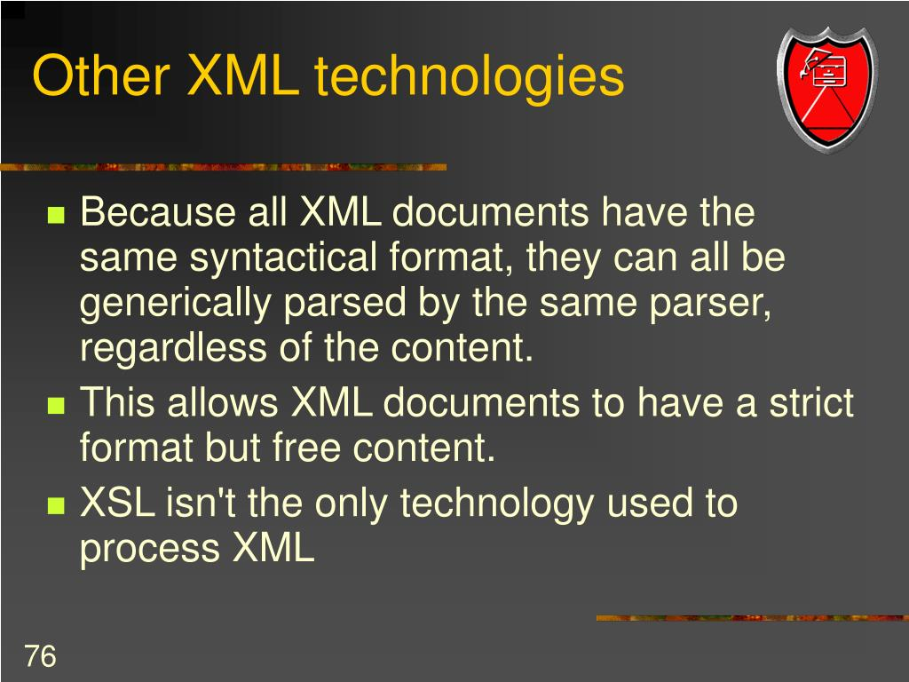 Other XML technologies