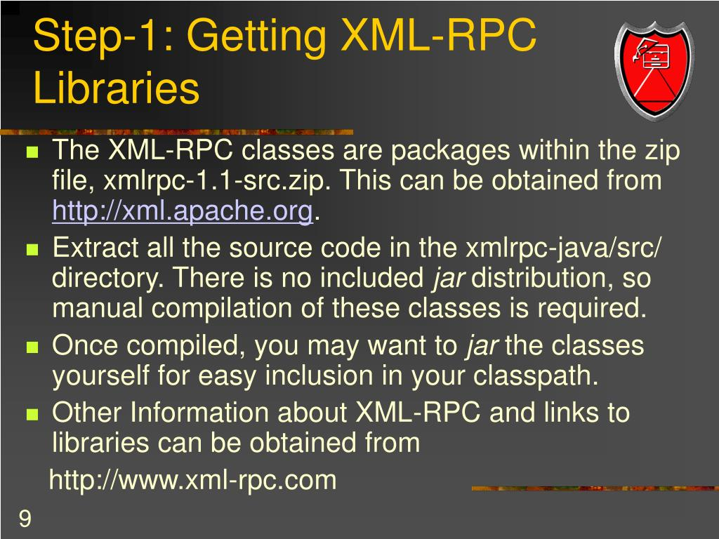 Step-1: Getting XML-RPC Libraries