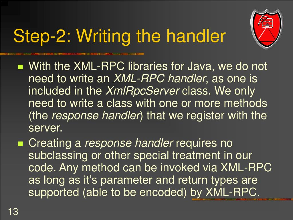 Step-2: Writing the handler