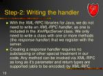 step 2 writing the handler