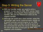step 3 writing the server
