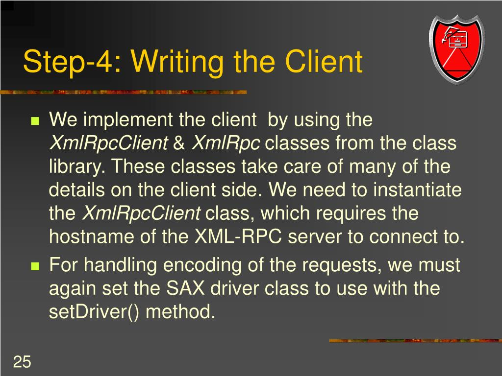Step-4: Writing the Client