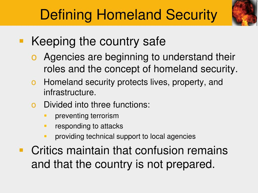 an introduction to homeland security Introduction to homeland security strategy order details you are the emergency manager in a city of 200,000 people in the midwestern united states and are working on your long-term budget.