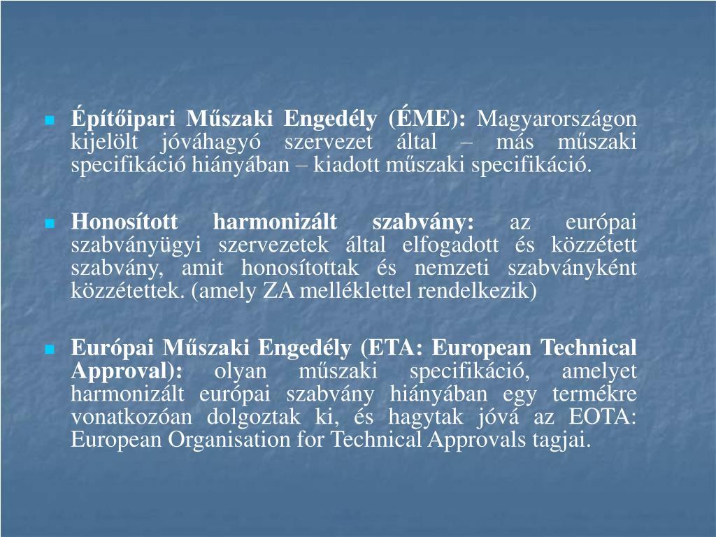 Építőipari Műszaki Engedély (ÉME):