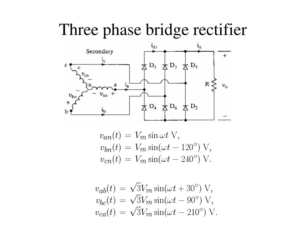 3 phase diode bridge rectifier output voltage - 28 images