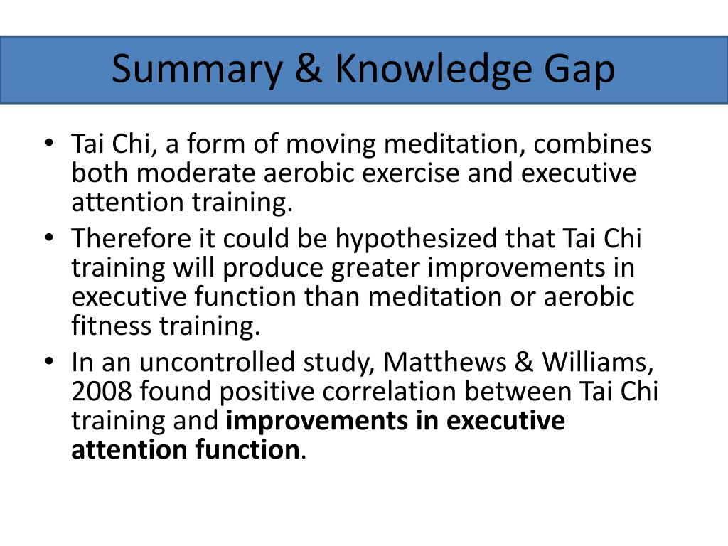 Summary & Knowledge Gap