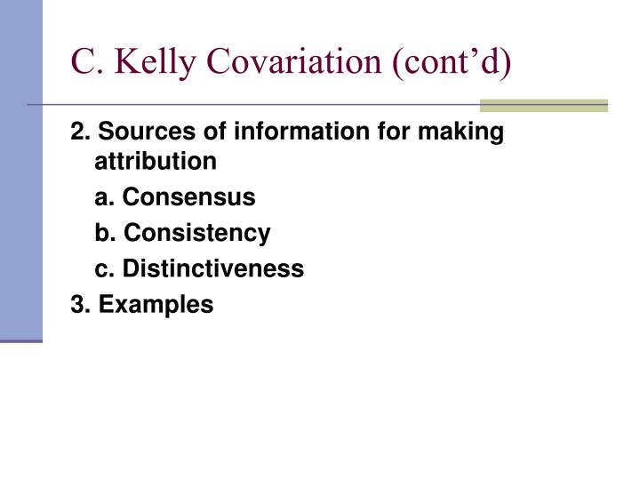 C. Kelly Covariation (cont'd)