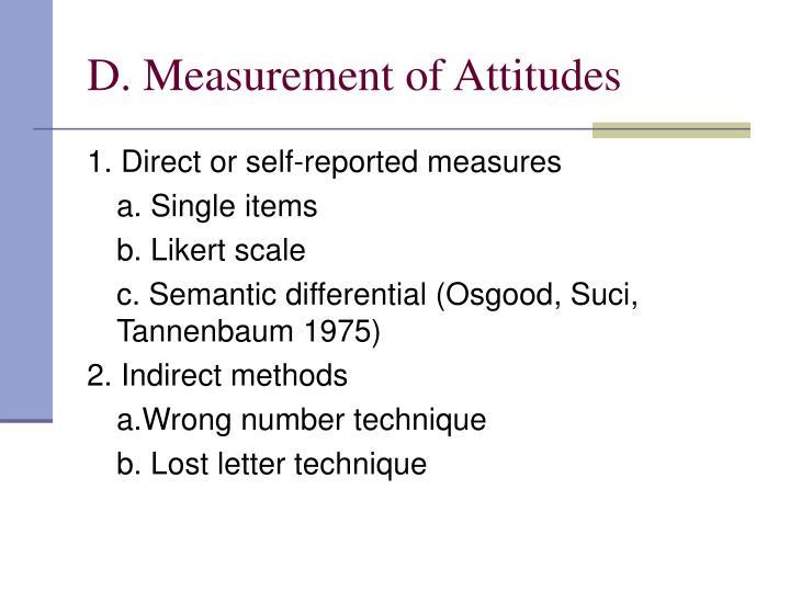 D. Measurement of Attitudes