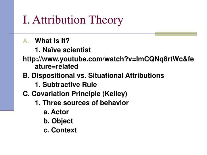 I. Attribution Theory