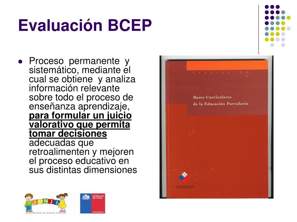 Evaluación BCEP