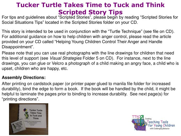Tucker turtle takes time to tuck and think scripted story tips l.jpg