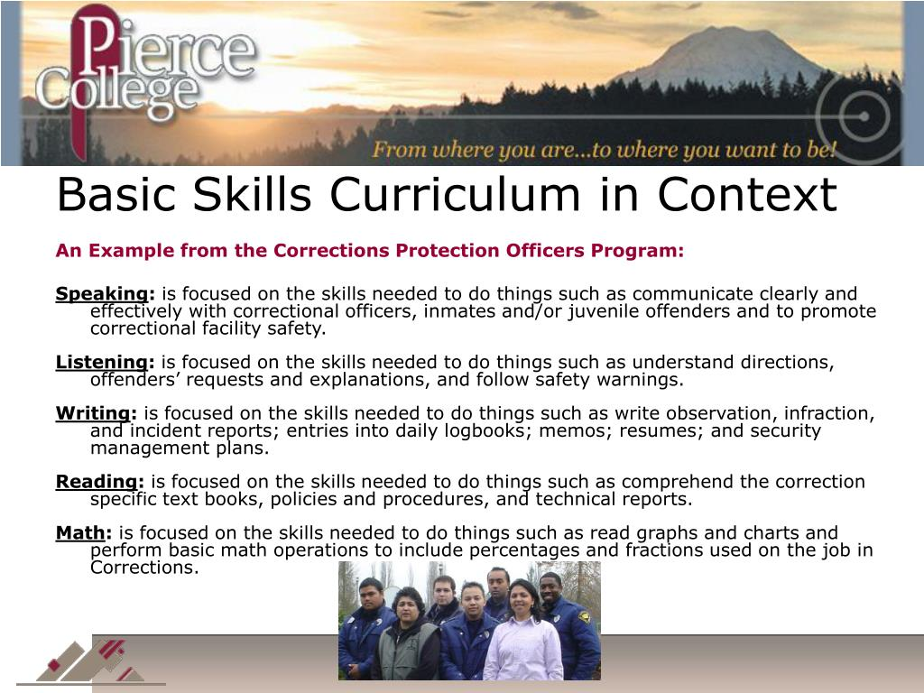 Basic Skills Curriculum in Context